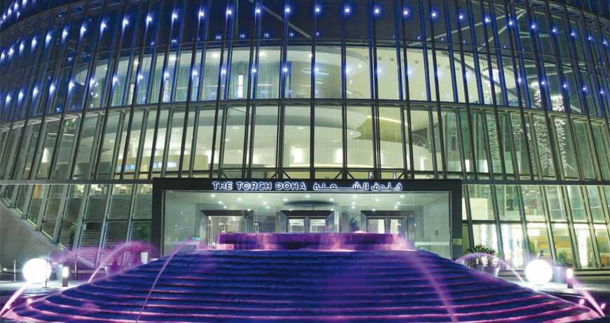 Renovación en la iluminación del Torch Hotel en Qatar